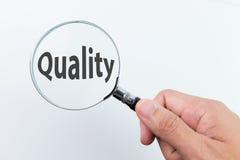 Kvalitets- kontrollbegrepp royaltyfria bilder