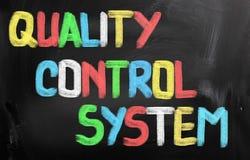 Kvalitets- kontrollsystembegrepp arkivbild
