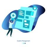 Kvalitets- ledning för bakgrundsillustration vektor illustrationer