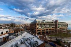 Kvalitetsgatahamnplats i avverkningpunkt i Baltimore, Maryland royaltyfria foton