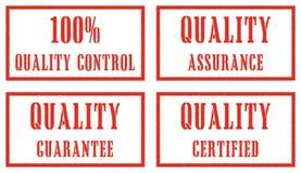 kvalitetsstämplar stock illustrationer