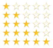 Kvalitetsuppsättning för fem stjärnor Arkivbilder