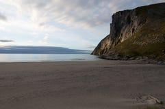 Kvalvika beach, Lofoten islands, Norway Stock Image
