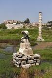 Kvarlevor av den forntida templet av Artemis fotografering för bildbyråer