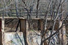 Kvarlevor av en gammal hydroelektrisk anläggning i Richmond, Virginia Arkivbilder