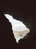 Kvarlevor av en gammal min nära de vulkaniska grottorna i den Ajuy byn, Fuerteventura, kanariefågelöar, Spanien Royaltyfri Bild