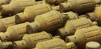 Kvarlevor av kriggranaten Royaltyfria Foton