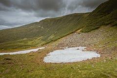 Kvarlevorna av snö Royaltyfri Fotografi