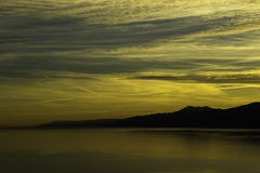 Kvarner sunset Stock Image