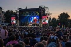 95 kvartal dans Kramatorsk, Ukraine Photographie stock libre de droits