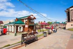 130 Kvartal fjärdedel, Irkutsk Royaltyfria Foton