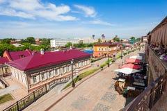 130 Kvartal fjärdedel, Irkutsk Arkivbild