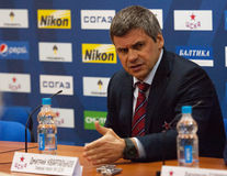 Kvartalnov Dmitry, head coach of CSKA team Stock Images