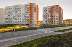 Kvarter av byggnader Arkivbild