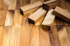 Kvarter av wood bakgrund Arkivfoto