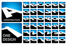 kvarter för alfabet 3D Royaltyfria Bilder