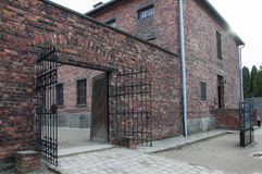 Kvarter 11 i den Auschwitz koncentrationsläger arkivfoton
