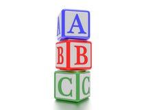 Kvarter med A, B och C som är skriftliga på det Royaltyfri Bild