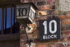 Kvarter 10 var en cellblock på den Auschwitz koncentrationsläger Royaltyfria Bilder