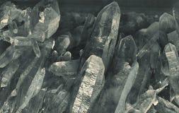 Kvartskristaller Arkivbild