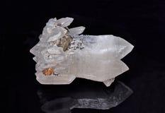 Kvartskristaller Arkivfoto