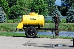 Kvass barrel in the Grutas park near Druskininkai city Stock Images