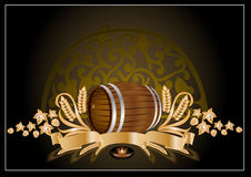 Kvass beer wine barrel Royalty Free Stock Photography