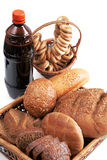 Kvass and grain products Stock Photo