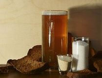 Kvass, and products for making it. Royalty Free Stock Photos