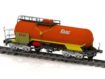 Kvass Railway wagon of the wanted colour Stock Photo