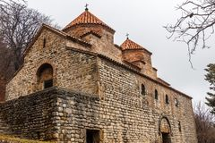 Kvelacminda old VIII century church, Gurdjaani, Kaheti. Georgia Stock Photography