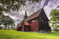 Kvernes ударяет церковь, Норвегию стоковая фотография