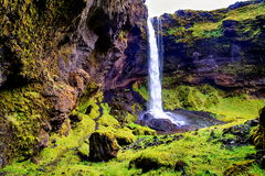 Kvernufoss in Iceland Royalty Free Stock Photography
