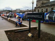 KVille with Tents on the Duke University Campus Stock Photography