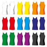 Kvinnaärmlösa tröjor Fotografering för Bildbyråer