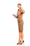 Kvinna återförsäljaren med krimskrams Royaltyfria Foton