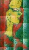 kvinna stock illustrationer
