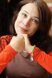 Kvinna 40-talskönhet Arkivbild