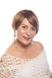 Kvinna av ålder 60 Fotografering för Bildbyråer