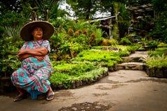 Kvinna av Malang, Indonesien arkivbild