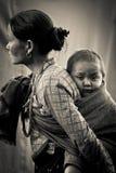 Kvinna av Sindhupalchowk, Nepal arkivbild