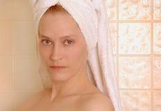 Kvinna efter dusch Royaltyfria Foton