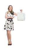 Kvinna efter shopping spree Royaltyfria Bilder