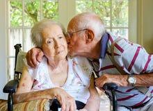 kvinna för åldringögonfokus royaltyfria bilder
