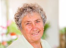 kvinna för åldringögonfokus Royaltyfri Fotografi
