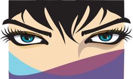 kvinna för ögonillustrationvektor Royaltyfri Bild