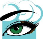 kvinna för ögonillustrationvektor Royaltyfri Illustrationer
