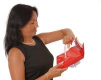 kvinna för 10 gåva s arkivbild