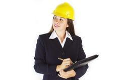 kvinna för 2 konstruktion Arkivbilder
