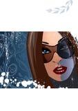 kvinna för 2 solglasögon royaltyfri illustrationer